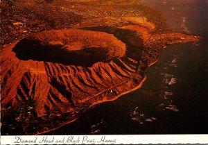 Hawaii Oahu Aerial View Diamond Head and Black Point