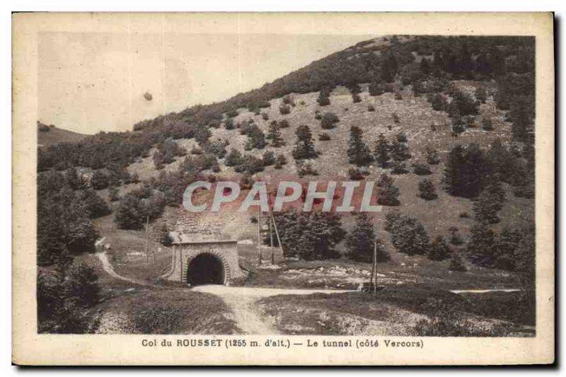 Old Postcard Col du Rousset tunnel Riviera Vercors