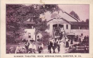 E70/ Chester W Va Postcard Rock Springs Amusement Park 1909 Summer Theatre 22