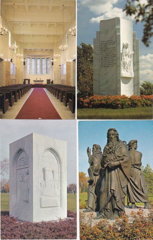 0170 Grabbag Auction 4 Cemetery Postcards Starting At .99