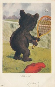 TENNIS Bear , Love All , 00-10s ; M.D.S.