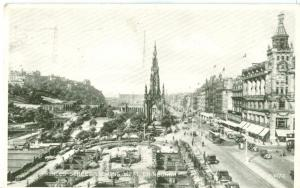 Princes Street looking West, Edinburgh, 1944 used Postcard