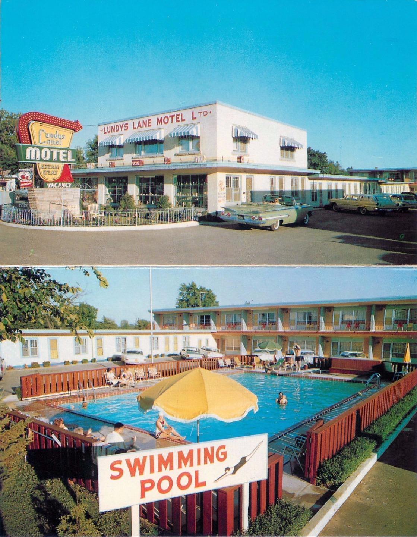Niagara Falls Canada Roadside Lundy S Lane Motel Map 1960s
