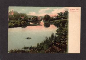 ME Mill River Pond THOMASTON MAINE Postcard UDB