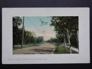 Canada: Winnipeg, Roslyn Road, Fort Rouge c1918 by Valentine's