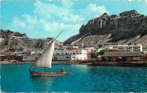 yemen aden a scene of maalla semi-modern postcard