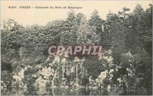 4150 Old Postcard paris waterfall of Bois de Boulogne
