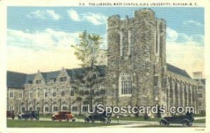 The Library, Duke University in Durham, North Carolina