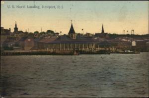 Newport RI Naval Landing c1910 Postcard