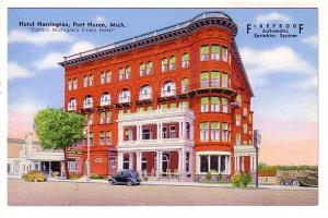 Harrington Hotel Port Huron, Michigan, John A Anderson Manager, 40's Cars, 'F...