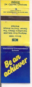 Matchbook Cover ! Be An Achiever ! Int'l. Correpondence Schools !
