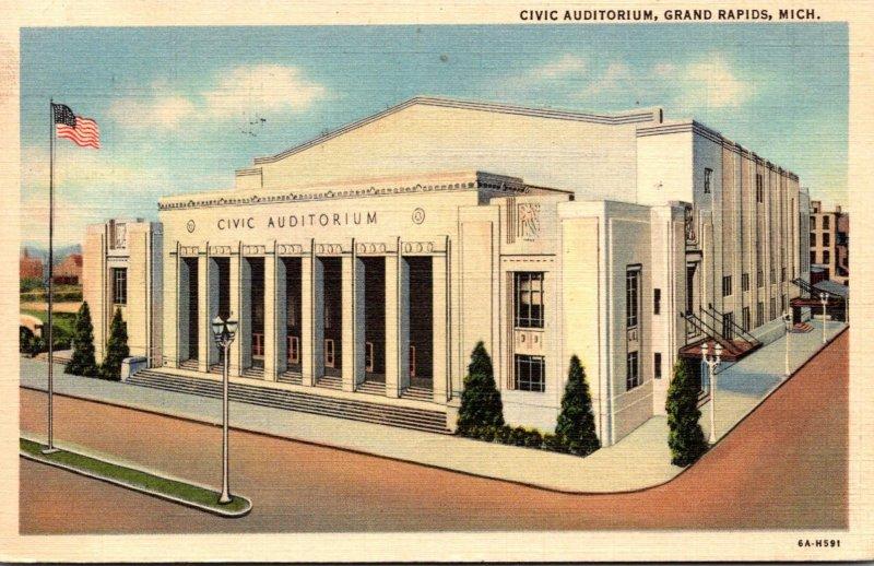 Michigan Grand Rapids Civic Auditorium 1938 Curteich