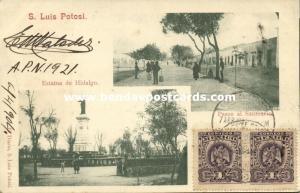 mexico, S. LUIS POTOSI, Paseo al Santuario, Estatua de Hidalgo (1904) Stamps