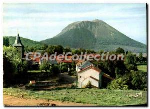 Modern Postcard Picturesque Auvergne Puy de Dome seen from the village of Puy...