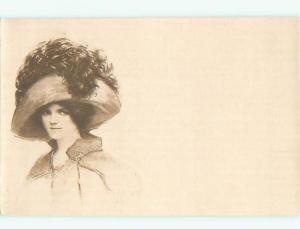 Divided-Back PRETTY WOMAN Risque Interest Postcard AA7874
