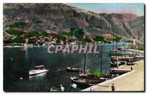 Modern Postcard Menton Garavan Yacht Harbor View