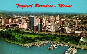 Florida Miami Aerial View Looking West