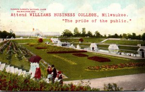 Wisconsin Milwaukee Mitchel Park Sunken Gardens 1910