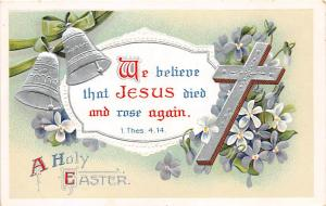 Easter Post Card Old Vintage Antique International Art Publishing Writing on ...