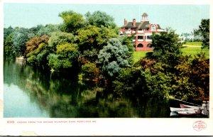 Maine Portland Riverton Park The Casino From The Bridge Detroit Publishing