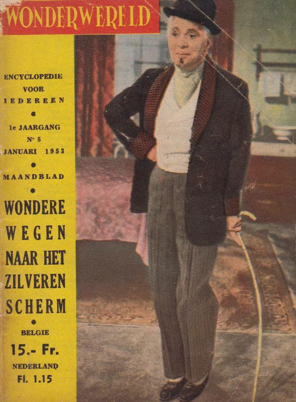 Wonderwereld 1953 German Cinema Magazine Book Boris Karloff Mickey Mouse etc