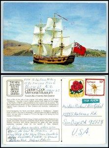 NEW ZEALAND Postcard - Sailing Ship Replica H. M. Bark Endeavour AH
