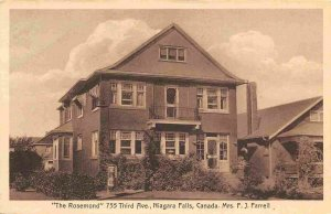 The Rosemond Tourist Home Niagara Falls Ontario Canada postcard