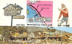Laguna Beach California~Pottery Shack~1960 Postcard