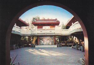Canada Temple Courtyard At Dawn International Buddhist Society Richmond Briti...