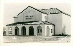OK, Lawton, Oklahoma, Fort Sill, Theatre, Post Studio No. 102, RPPC