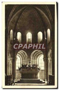 Old Postcard Morienval Oise Notre Dame Church Choir and Deambulatoir Old Abbe...
