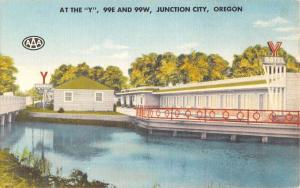 Junction City Oregon Y Motel Waterfront Antique Postcard K57797
