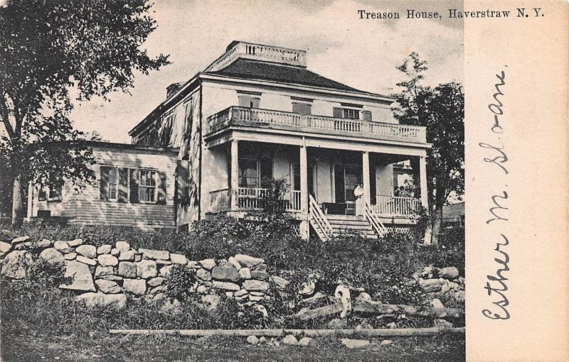 Treason House, Haverstraw, New York, Early Postcard, Used in 1906