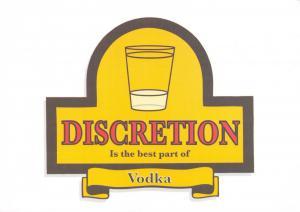 Postcard Discretion is the best part of VODKA, Alcoholic Wisdom #364