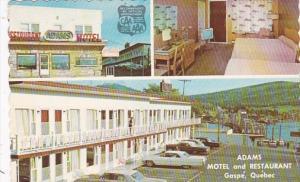 Canada Gaspe Adams Motel and Restaurant 1965