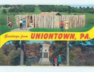 Unused Pre-1980 TWO VIEWS ON ONE POSTCARD Uniontown Pennsylvania PA F1576