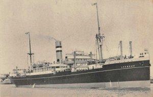 S.S. LEERDAM Holland-America Line Steamship c1930s Vintage Postcard
