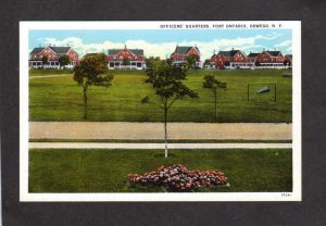 NY Military Officers Quaters Fort Ft Ontario Oswego New York Postcard