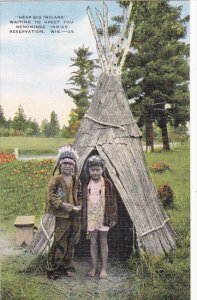 Heap Big Indians Menominee Indian Reservation Between Shawano and Antigo Wisc...