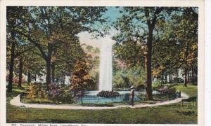 Virginia Lynchburg Fountain In Miller Park Curteich