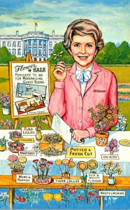 Political Humour Nancy Reagan Flower Sale