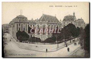 Old Postcard Rennes Le Lycee