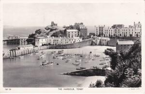 RP: TENBY, Wales, PU-1957; The Harbour ; TUCK