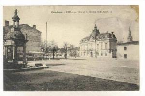 L'Hotel De Ville Et Le Celebre Puits Henri IV, Coutras (Gironde), France, 190...