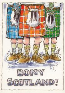 Bony Scotland Knobbly Knees Scottish Comic Humour Postcard