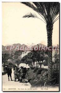 Old Postcard Menton A corner of the Public Gardens