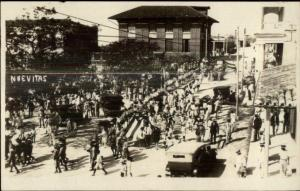 Nuevitas Cuba American Parade c1920s Real Photo Postcard