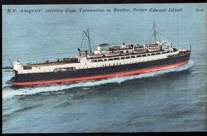 Prince Edward Island M.V. Abegweit Car Ferry Cape Tormentine to BORDEN - LINEN