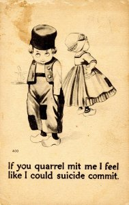 Children - If you quarrel…        (stained card)