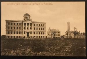 Vintage Postcard Unused Agricultural College & Buildings Winnipeg Canada LB